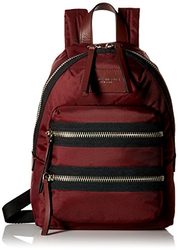 Marc Jacobs Women's Mini Nylon Biker Back pack, Rubino, One Size