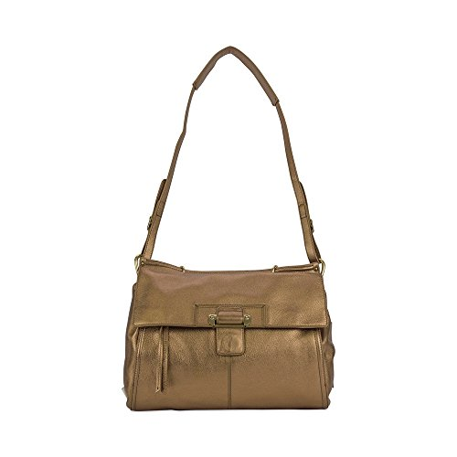 Kooba Aiden Satchel Handbag in Metallic Bronze F12107M-56