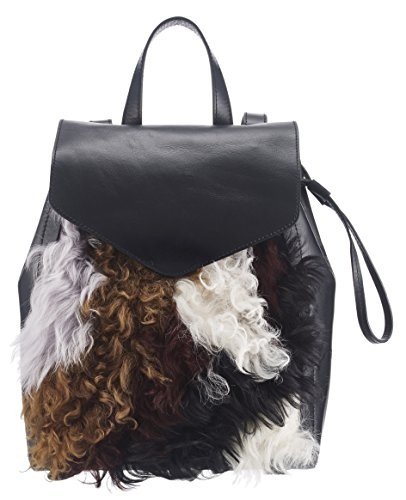 Loeffler Randall Women's Small Drawstring Back pack, Black/Multi