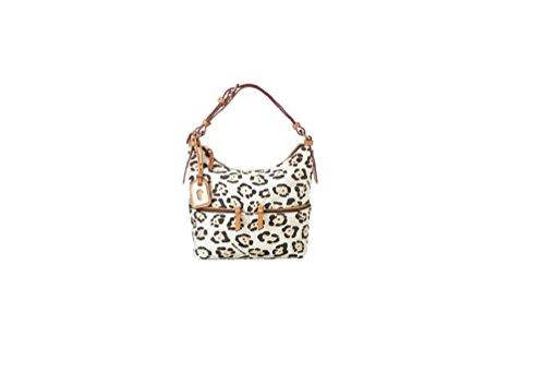 Dooney & Bourke Nylon Print Small Zipper Pocket SAC Shoulder Bag (Leopard)