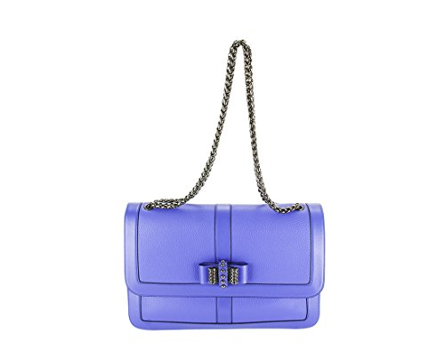 Christian Louboutin Womens Rougissime Metal Chevron Clutch Handbag – Gold