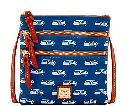 Dooney and Bourke Seattle Seahawks Triple Zip Crossbody Handbag