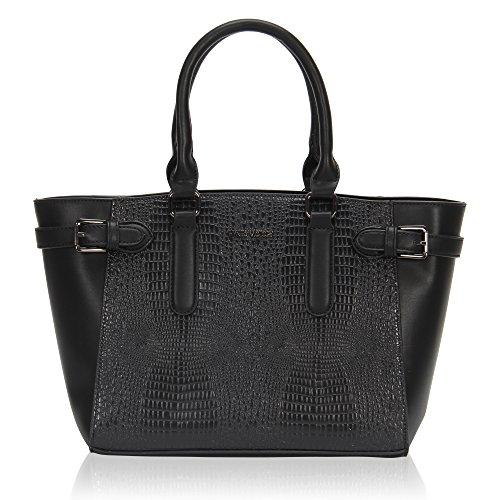 Hynes Victory Women Deluxe Satchel Handbag Crocodile Pattern Large Tote