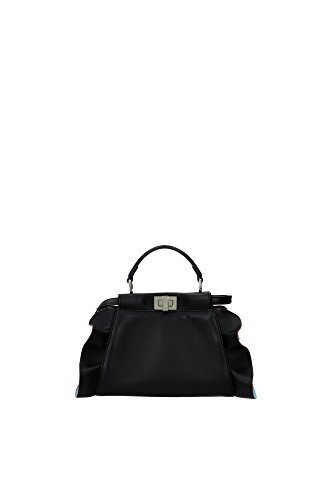 Fendi Peekaboo Mini Wave Leather Satchel Bag