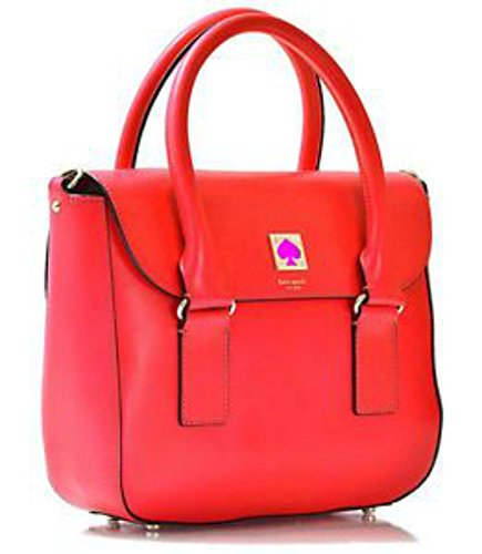 Kate Spade New Bond Street Satchel Purse Handbag In Cyber Orange
