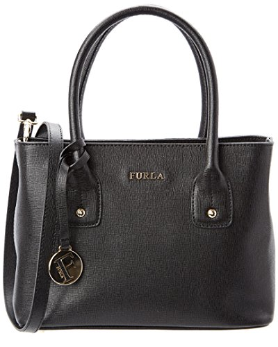 Furla Small JOSI Saffiano Leather Top Handle Bag, Onyx