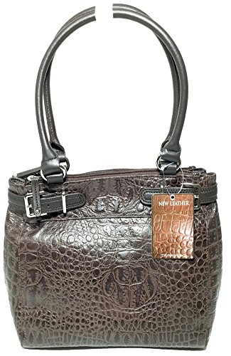 Tignanello Croco Structure Shopper Brown T82010BS
