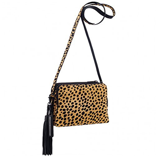 Loeffler Randall Haircalf Triple Zip Handbag, in Cheetah