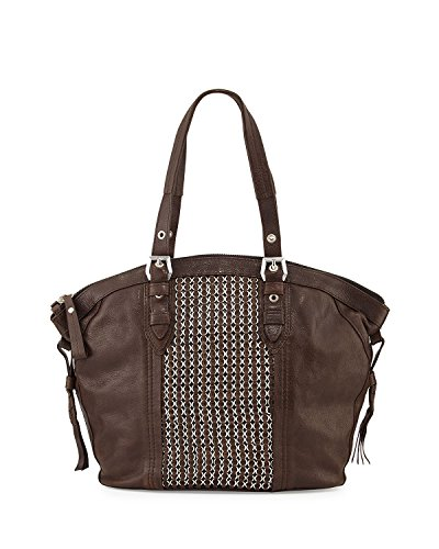 orYANY Betsy Leather Chainmail Tote Bag, Brown