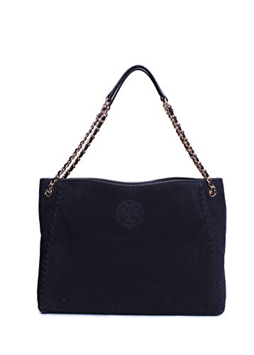 Tory Burch Marion Chain Shoulder Slouchy Tote in Tory Navy