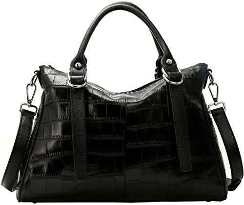 Iswee Women's Designer Leather Handbag Tote Purse Shoulder Bag Satchel For Ladies