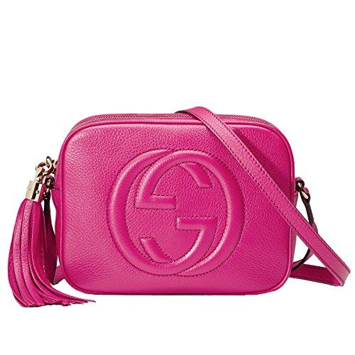 GUCCI Soho Magenta Pink Leather Disco Cross-Body Shoulder Bag 308364
