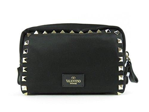 Valentino Rockstud Small Nylon Zip Case