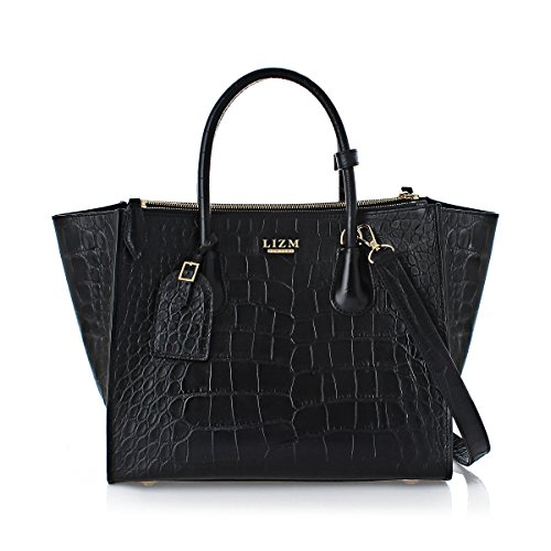 Lizm New York Women's The Trapeze Real Leather Bag