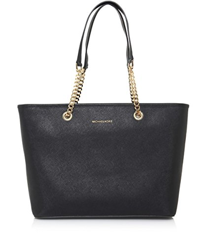 Michael Kors Jet Set Travel Chain Leather Tote