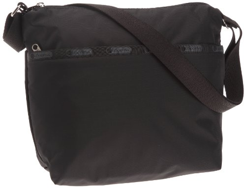 LeSportsac Classic Small Cleo Crossbody Handbag, Black