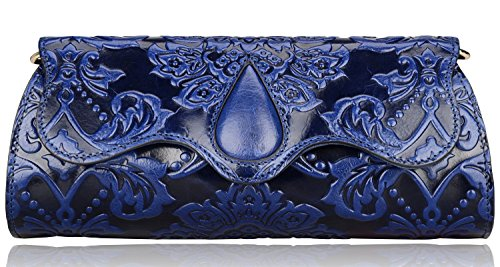 Pijushi Designer Floral Genuine Leather Clutch Cross Body Handbags 8838