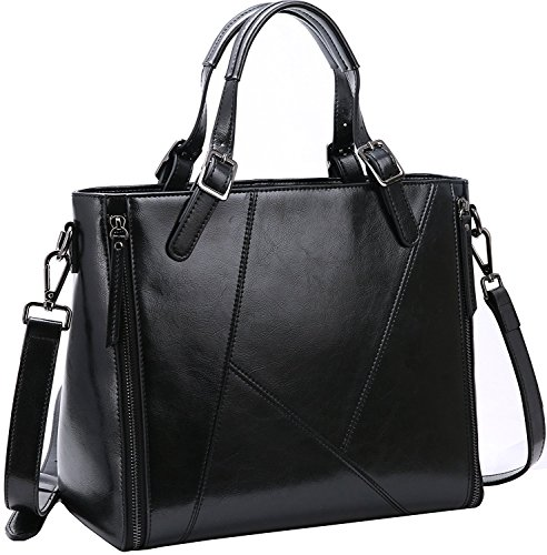 Iswee Leather Tote Shoulder Messenger Bags Purse Handbags for Women
