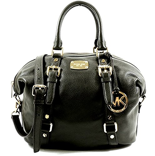 MICHAEL KORS HANDBAG BEDFORD LARGE slouchy SATCHEL LEATHER AUTHENTIC BLACK