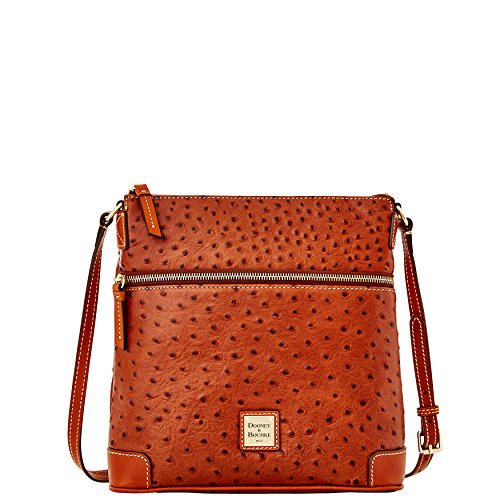 Dooney & Bourke Ostrich Emb Leather Crossbody Bag