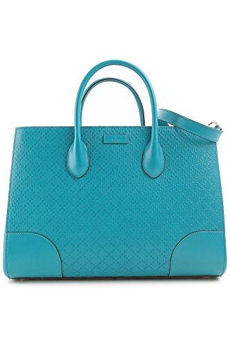 Gucci Bright Diamante 2-Way Leather Top Handle Shoulder Bag 354225 Dark Cobalt Blue