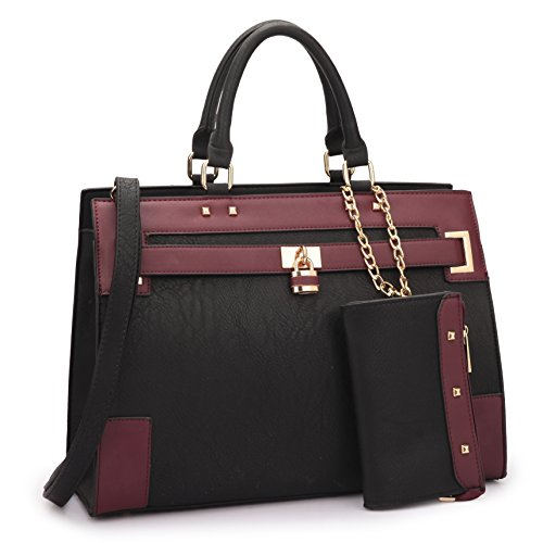 MMK collection Fashion Handbag with Extra coin purse(11-7045)~Classic Women Purse for Women~Signature fashion Designer Purse ~ Perfect Women Satchel handbags