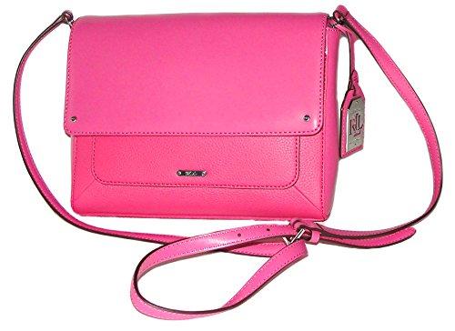 Lauren Ralph Lauren Pink Leather Handbag Fulton Azalea Crossbody Shoulder Bag