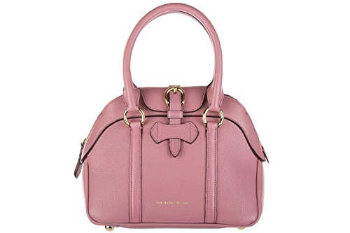Burberry women's leather handbag shopping bag purse milverton derby mauve pink