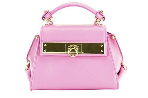 Salvatore Ferragamo Womens Sofia Mini Tote – Pink Leather