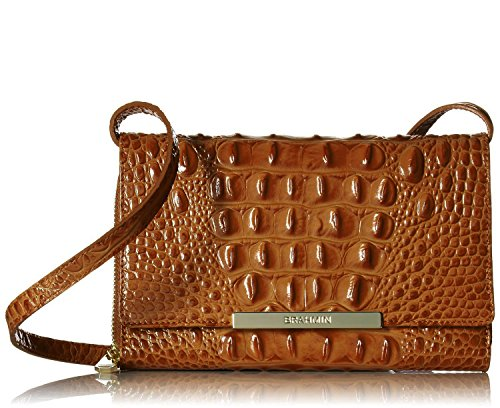 Brahmin Michelle Toasted Almond Melbourne Leather X body