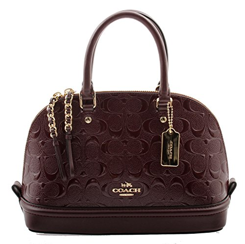 Coach Signature Debossed Patent Leather Mini Sierra Satchel, F55450