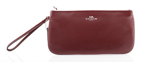 Coach Leather Wristlet in Crossgrain Leather, F65555