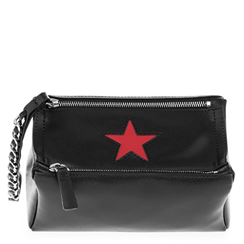 Givenchy Women's Small Pandora 'Star' Wristlet Bag Black Red