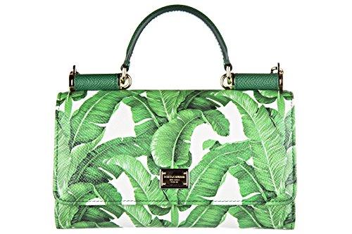 Dolce&Gabbana women's leather clutch handbag purse con racolla original dauphine