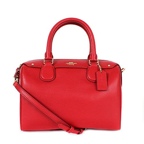 Coach F36624 Crossgrain Leather Mini Bennett Satchel Bag True Red