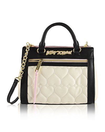 Betsey Johnson Quilted Small Satchel Crossbody Bag