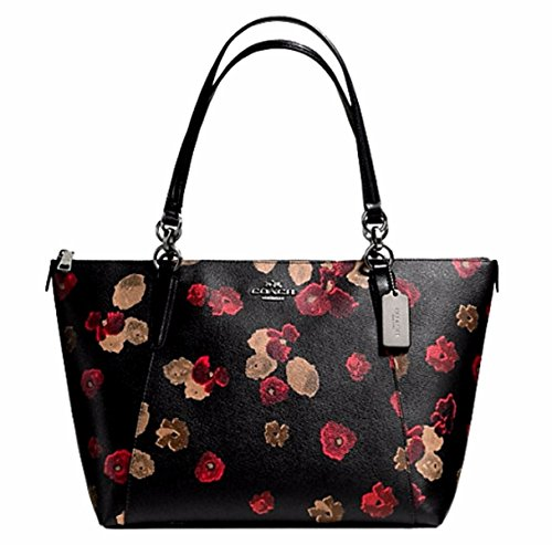 COACH AVA TOTE IN HALFTONE FLORAL PRINT COATED CANVAS F55541