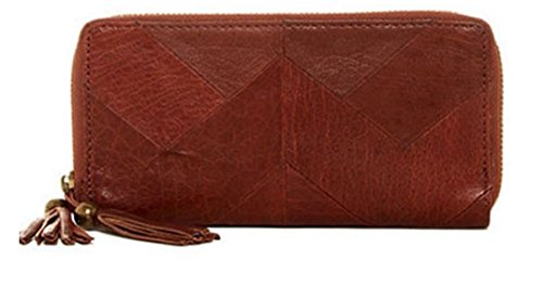 Lucky Brand Piece Train Leather Brandy Clutch Wallet