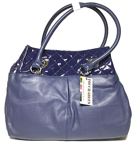 Tignanello Navy/NavyPatent N/S Tote A216799