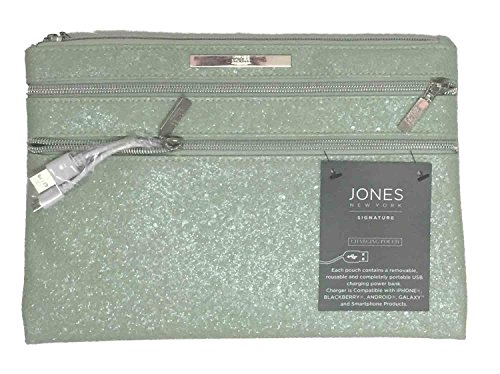 Jones New York Signature Charging Pouch Clutch Purse Light Green
