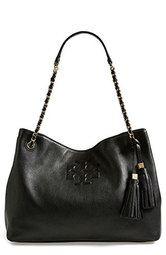 Tory Burch Thea Chain Slouchy Tote, Black
