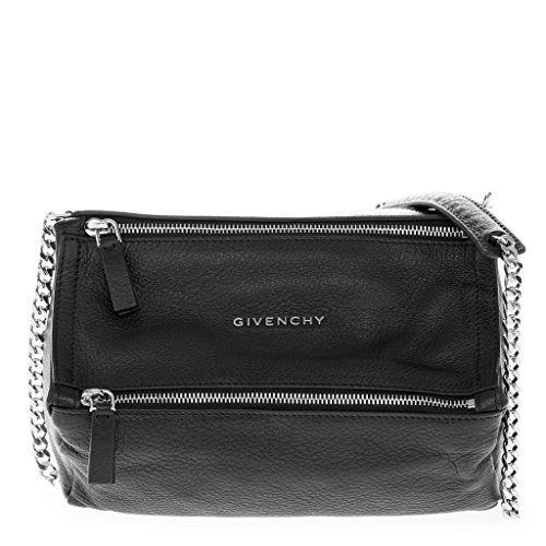 Givenchy Women's Mini Pandora Grained Rectangular Shoulder Bag Black