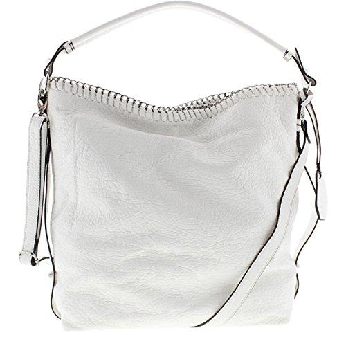Jessica Simpson Womens Lizzie Faux Leather Lined Hobo Handbag