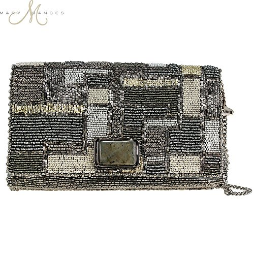 Mary Frances Pewter Maze Clutch