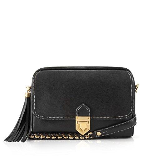 Eric Javits Women's Handbag Zip Pouch Bag (Black)