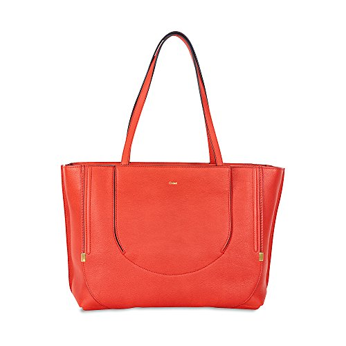 Chloe Isa Leather Tote Bag – Poppy Red