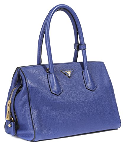 Wiberlux Prada Women's Vitello Grain Real Leather Satchel Bag