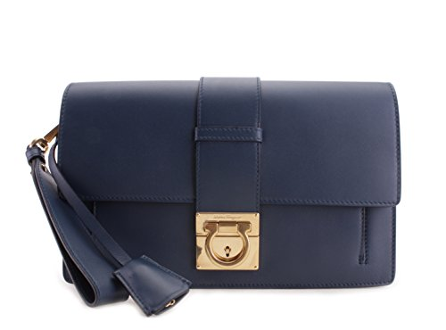 Salvatore Ferragamo Ginny Leather Wristlet Handbag
