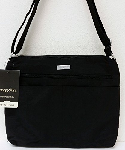 BAGGALLINI Special Edition New Design LARGE ZIPPER Bagg Crossbody Bag Black