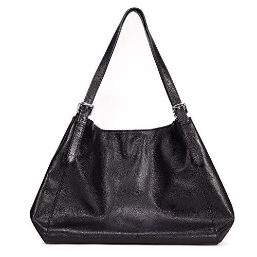 Kattee Women's Soft Leather Tote Bag Zippered Shoulder Handbag